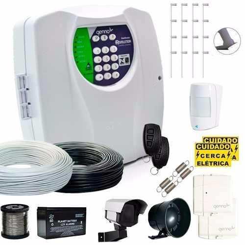 Kit Cerca Elétrica Genno para terrenos 10x20 Central Choque Alarme com Discadora  - Tudoseg Cftv - Sistemas de Segurança Eletrônica