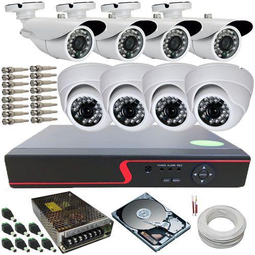 Kit Cftv 08 Câmeras de Segurança AHD 720p Infravermelho DVR Stand Alone 8 Canais Multi HD  - Tudoseg Cftv - Sistemas de Segurança Eletrônica
