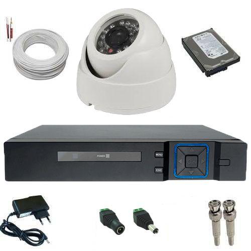 Kit CFTV com 1 Câmera Analógica 1000 Linhas de resolução 24 Leds Infravermelho + DVR Multi HD  - Tudoseg Cftv - Sistemas de Segurança Eletrônica
