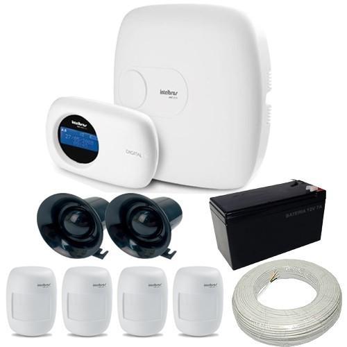kit de Alarme Intelbras 1 Central AMT 2010 com discadora 4 Sensores IVP 3000 CF  - Tudoseg Cftv - Sistemas de Segurança Eletrônica