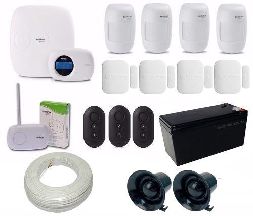 Kit de Alarme Intelbras 1 Central AMT 2018 EG Com Discadora + 8 Sensores Sem Fio  - Tudoseg Cftv - Sistemas de Segurança Eletrônica