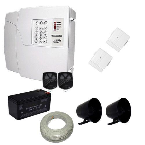 Kit de Alarme PPA Central 4D 4 Setores Com Discadora + 2 Sensores Magnéticos Sem Fio  - Tudoseg Cftv - Sistemas de Segurança Eletrônica