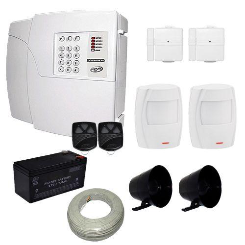 Kit de Alarme PPA Central 4D 4 Setores Com Discadora Para 6 Números Telefônicos + 4 Sensores  - Tudoseg Cftv - Sistemas de Segurança Eletrônica