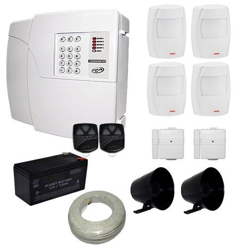 Kit de Alarme PPA Central 4D Com Discadora Para 6 Números Telefônicos + 6 Sensores PPA  - Tudoseg Cftv - Sistemas de Segurança Eletrônica