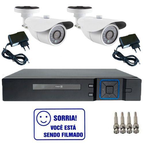 Kit Dvr Stand Alone Multi HD 4 canais + 2 Câmeras Bullet Infravermelho 1200 linhas + 2 fontes + 4 Conectores  - Tudoseg Cftv - Sistemas de Segurança Eletrônica