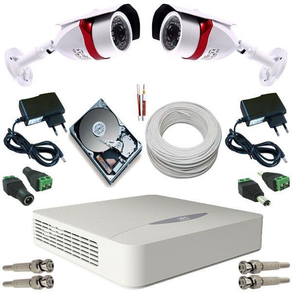 Kit vigilância 2 Câmeras Bullet 36 Leds Infravermelho AHD 1.3 Mp DVR JFL 4 Canais 5 em 1  - Tudoseg Cftv - Sistemas de Segurança Eletrônica
