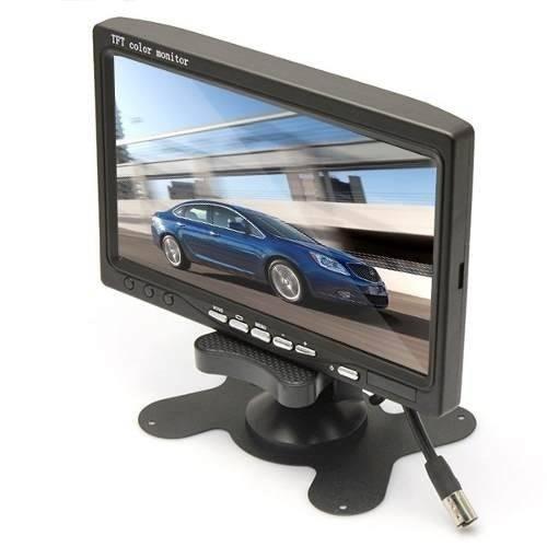 Monitor LCD 7 Polegadas Colorido Para Carros e Câmeras de Segurança - Alta Resolução  - Tudoseg Cftv - Sistemas de Segurança Eletrônica