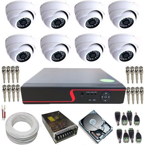 Sistema de Monitoramento 8 Câmeras Dome Ferro com Resolução em AHD 1.3 MP + DVR com Acesso a Internet.  - Tudoseg Cftv - Sistemas de Segurança Eletrônica