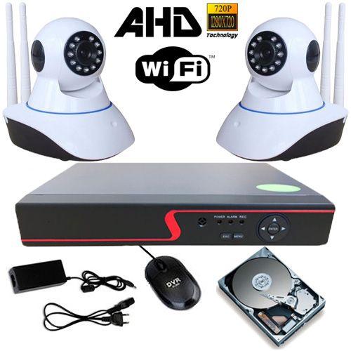 Sistema de Segurança 2 Câmeras Ip Infravermelho AHD 1.3 Mp DVR 4 Canais + HD 250Gb  - Tudoseg Cftv - Sistemas de Segurança Eletrônica