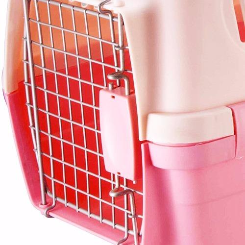 Caixa de Transporte Carry Pet Tamanho 1 Eleva Mundi - Rosa - N1