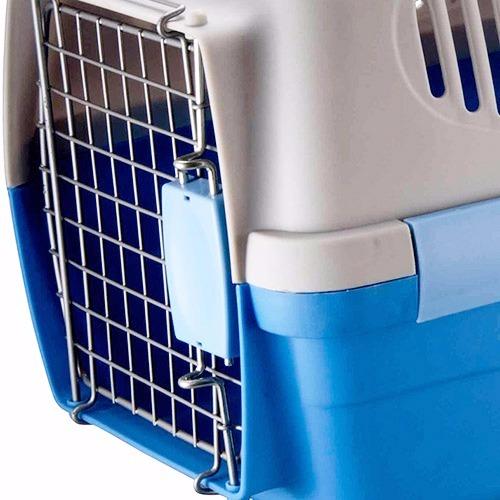 Caixa de Transporte Carry Pet Tamanho 2 Eleva Mundi - Azul - N2