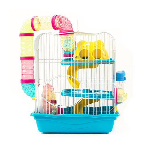 Gaiola Safari Grande para Hamster Eleva Mundi - Azul