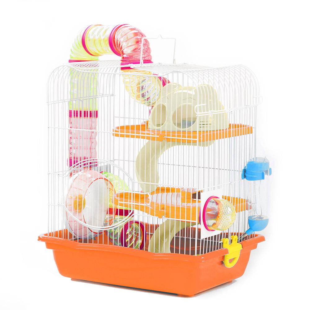 Gaiola Safari Grande para Hamster Eleva Mundi - Laranja