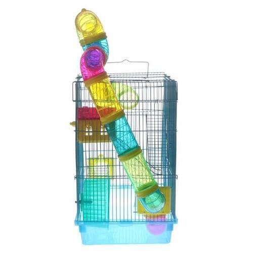 Gaiola 3 Andares para Hamster Azul Clara