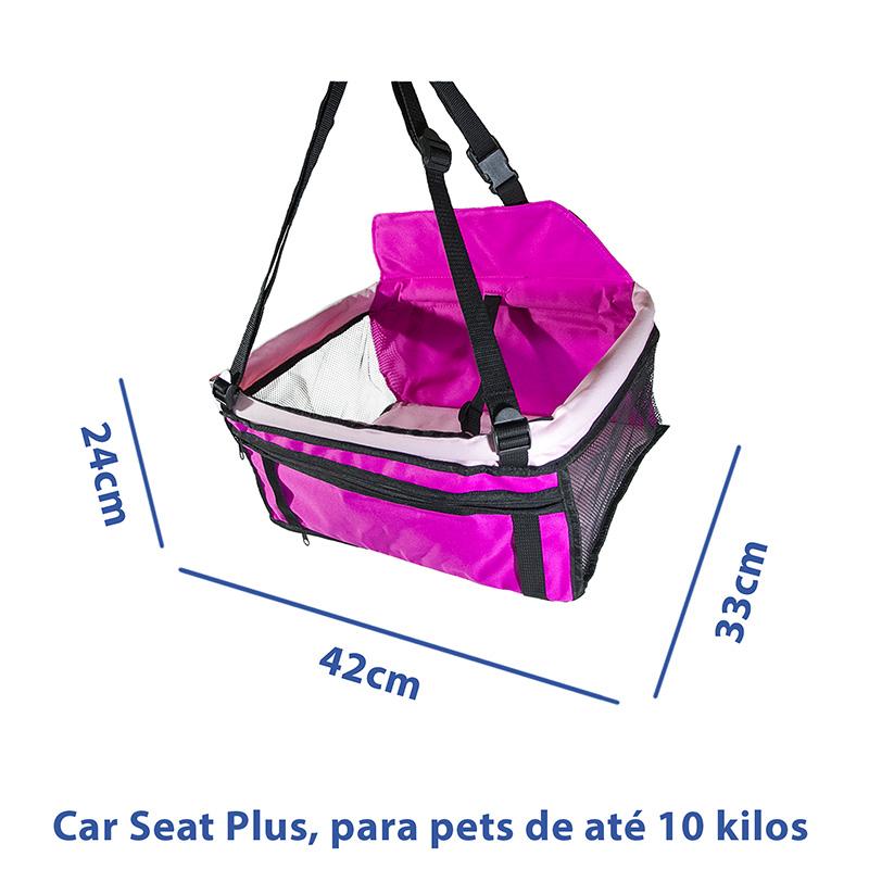 Cadeirinha de Transporte Pet Plus Eleva Mundi - Rosa - Até 10 Kilos