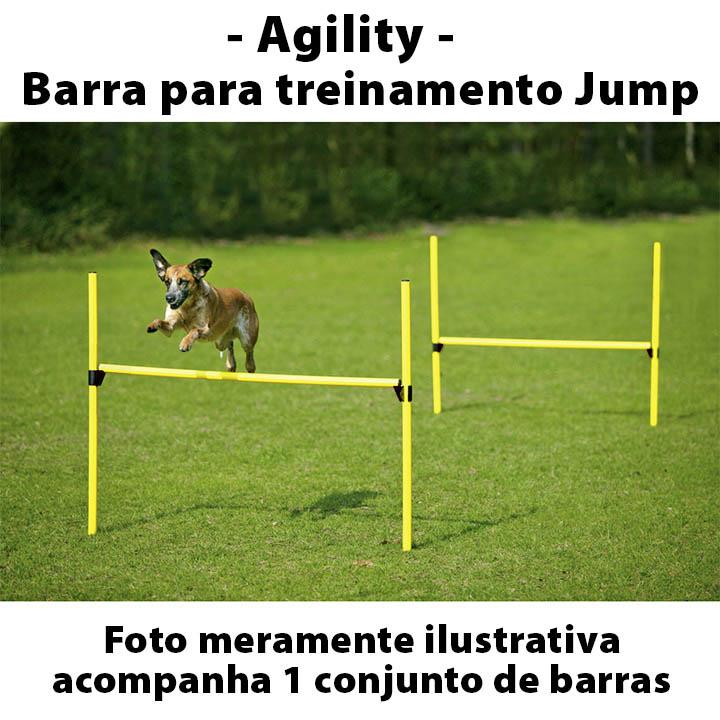 Barra com Estaca Jump Agility para Treinamento Canino Eleva Mundi