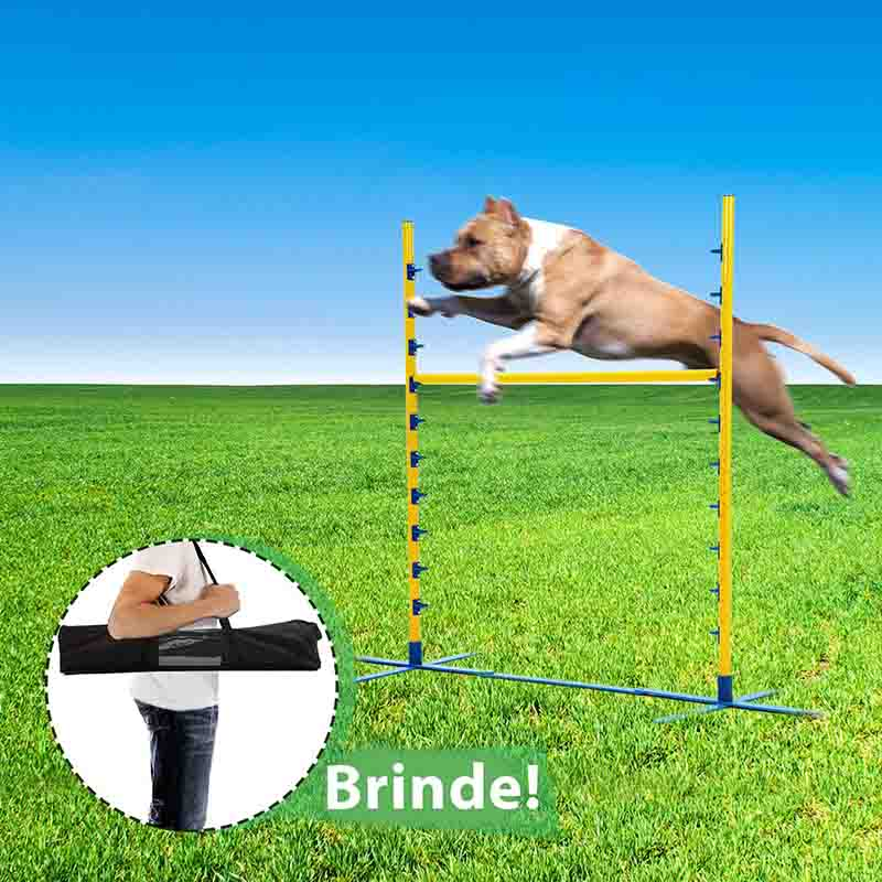 Barra Jump Agility para Treinamento Canino Eleva Mundi