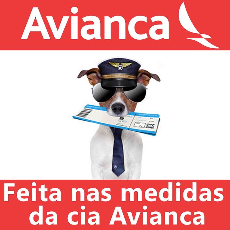 Bolsa para Transportar seu Pet na Cabine do Avião - Cia AVIANCA - Eleva Mundi - (Cor Azul)