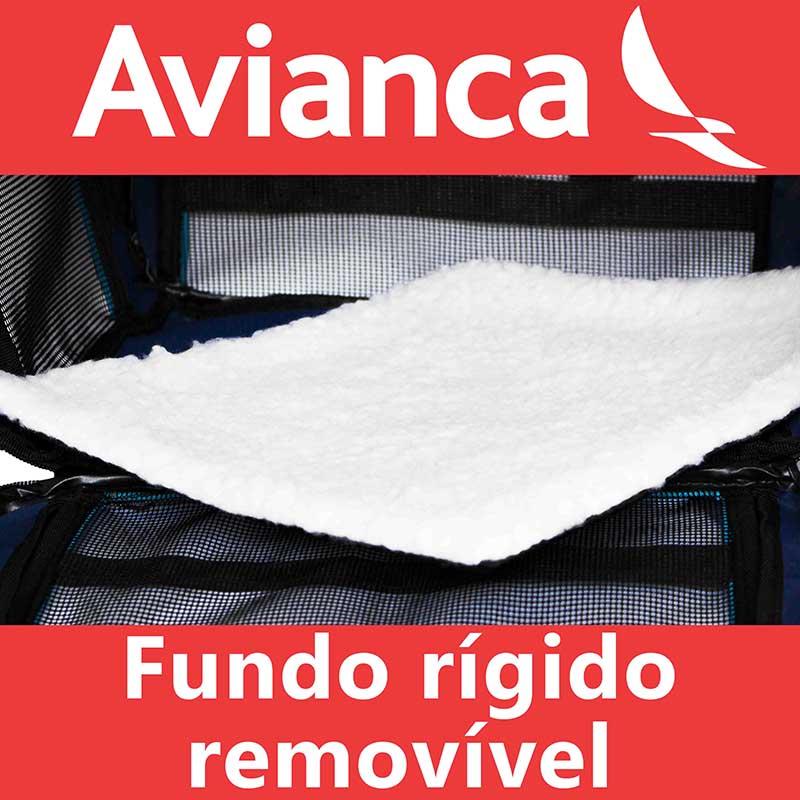 Bolsa para Transportar seu Pet na Cabine do Avião - Cia AVIANCA - Eleva Mundi - (Cor Rosa)