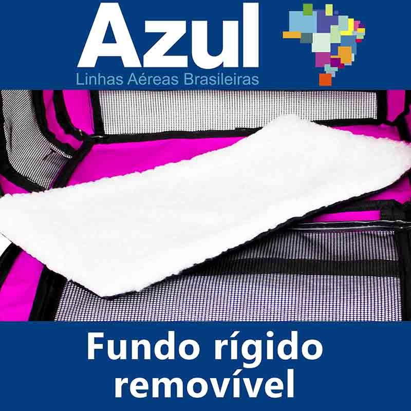 Bolsa para Transportar seu Pet na Cabine do Avião - Cia AZUL - Eleva Mundi - (Cor Rosa)