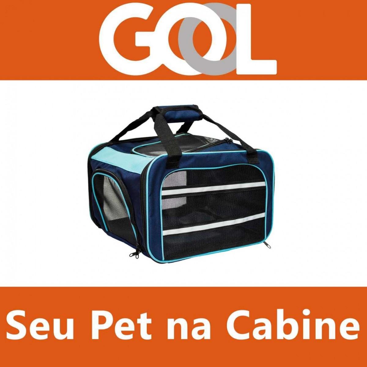 Bolsa para Transportar seu Pet na Cabine do Avião - Cia GOL - Eleva Mundi - (Cor Azul)