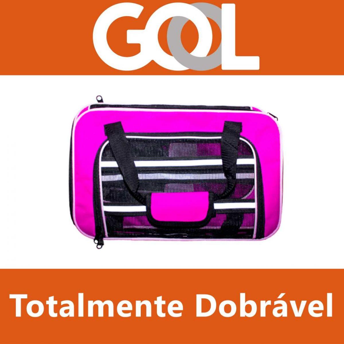 Bolsa para Transportar seu Pet na Cabine do Avião - Cia GOL - Eleva Mundi - (Cor Rosa)