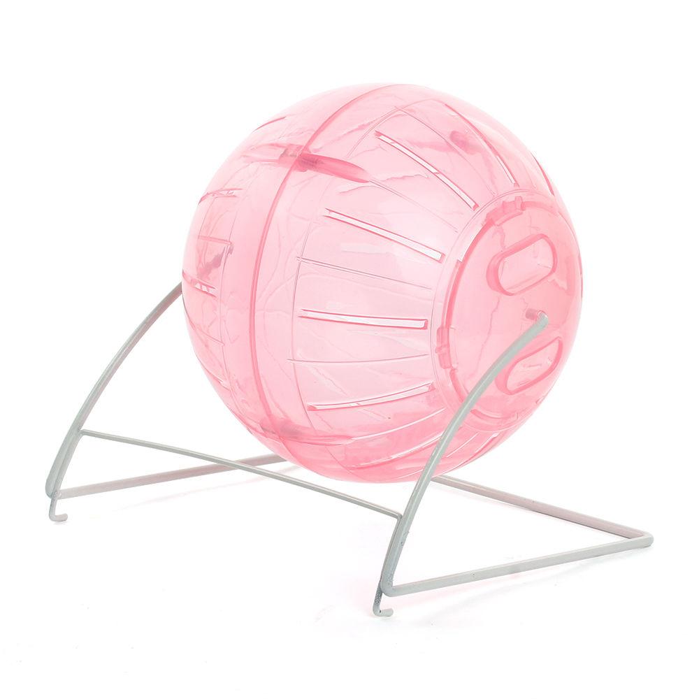 Globo Hamster Ball 12cm com suporte Eleva Mundi - Rosa