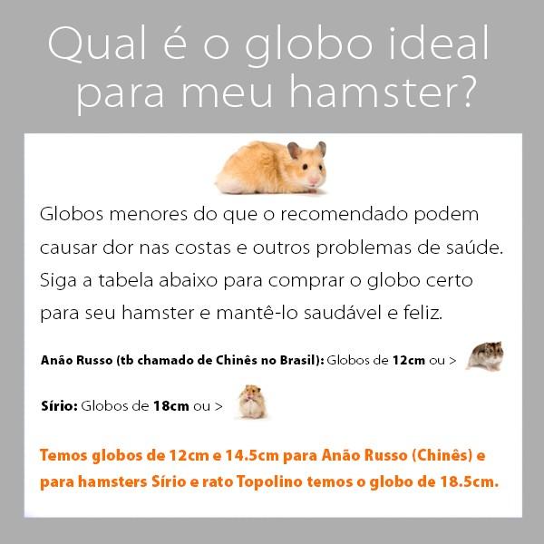 Globo Hamster Ball 33cm Eleva Mundi