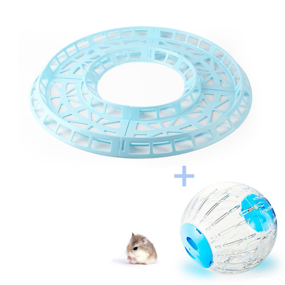Pista de Corrida Azul para Hamster + Globo 18.5cm Azul