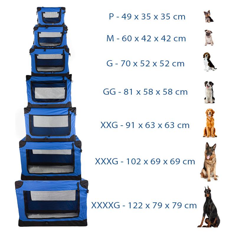 Casinha Móvel Dobrável Pet Holiday Tamanho M Eleva Mundi - Azul