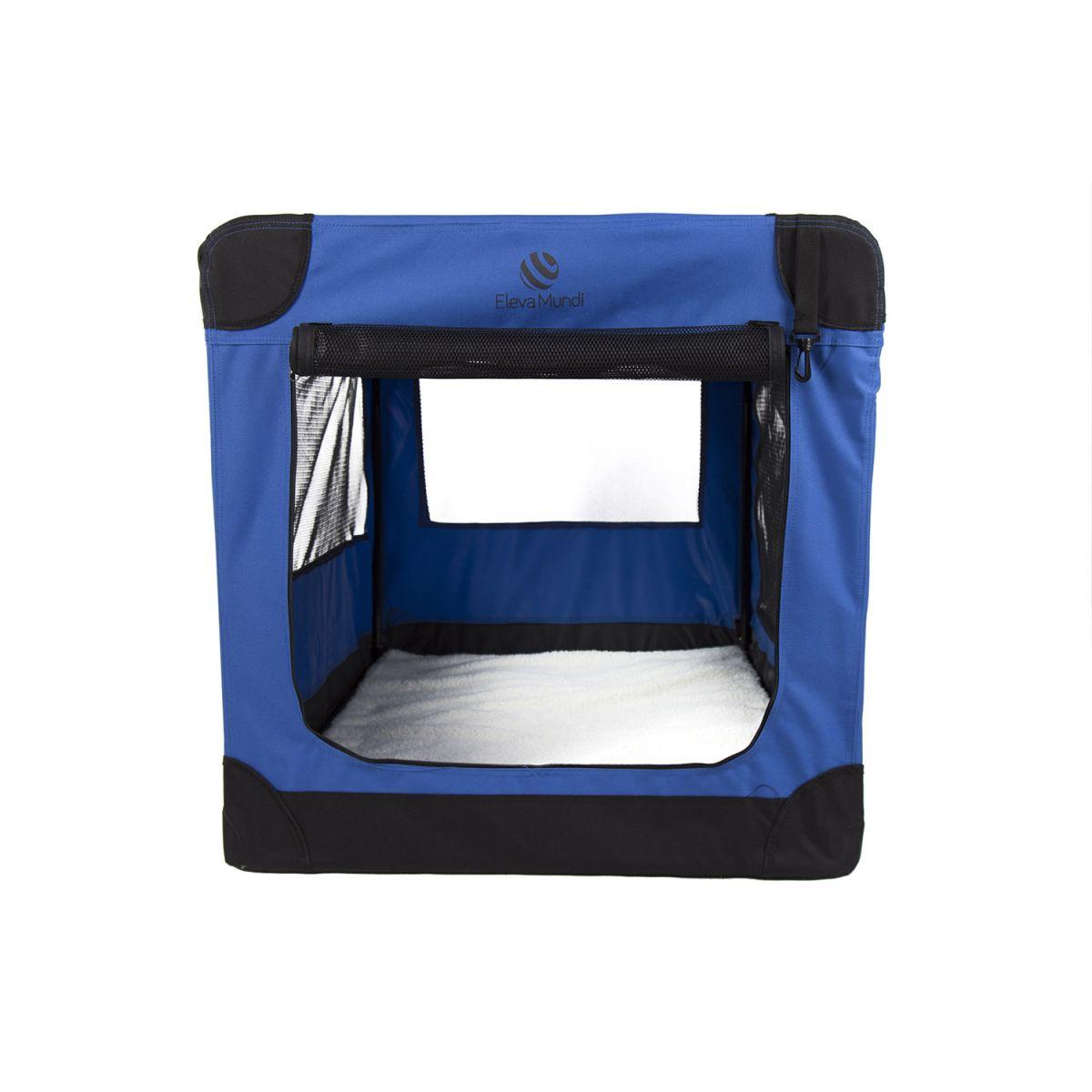 Casinha Móvel Dobrável Pet Holiday Tamanho XG Eleva Mundi - Azul
