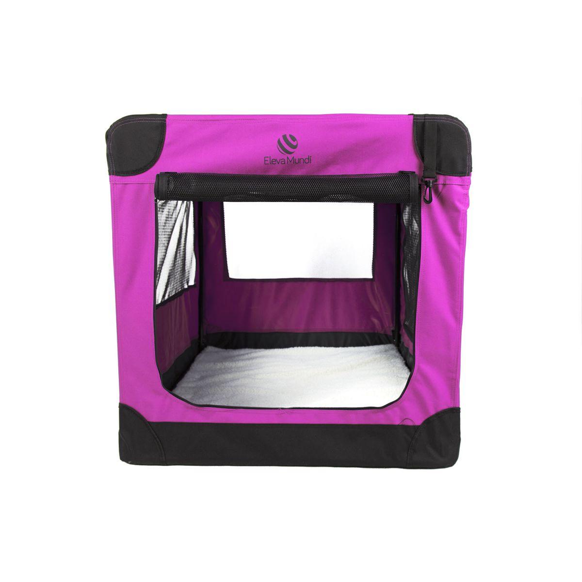 Casinha Móvel Dobrável Pet Holiday Tamanho XG Eleva Mundi - Rosa