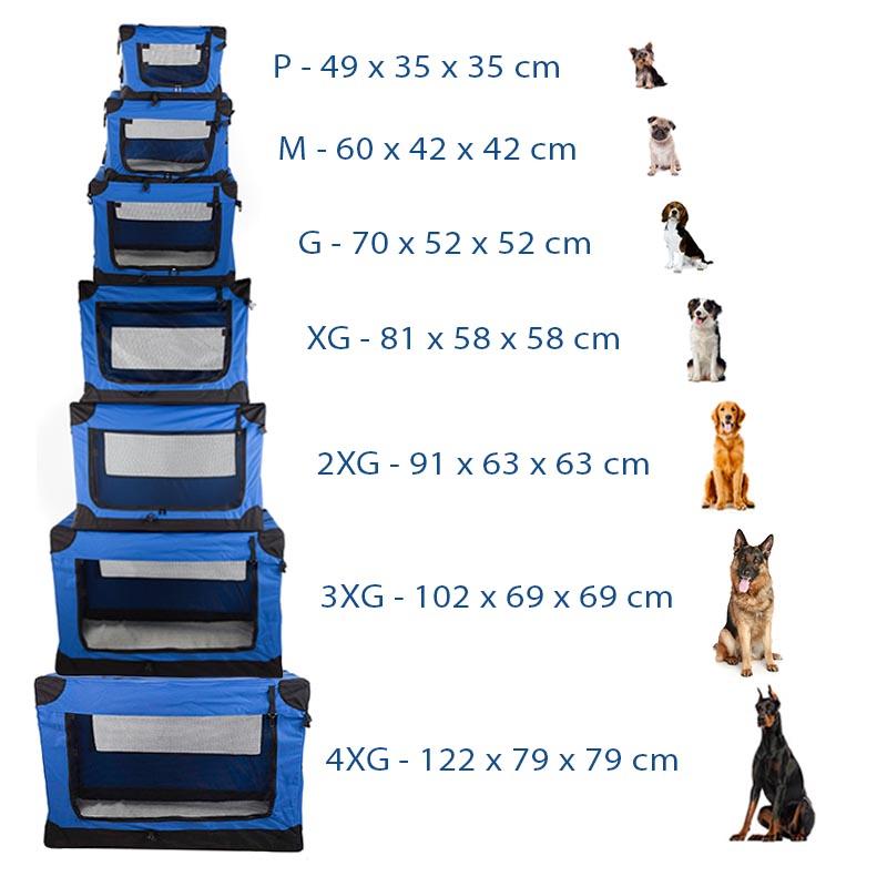 Casinha Móvel Dobrável Pet Holiday Tamanho 2XG Eleva Mundi - Azul