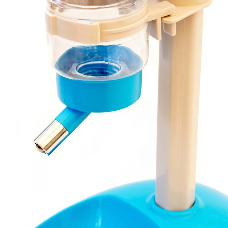 Bebedouro com 3 Bilhas e Comedouro Pequeno Eleva Mundi - Azul