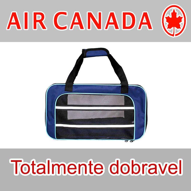Bolsa para Transportar seu Pet na Cabine do Avião - Cia AIR CANADA - Eleva Mundi - (Cor Azul)