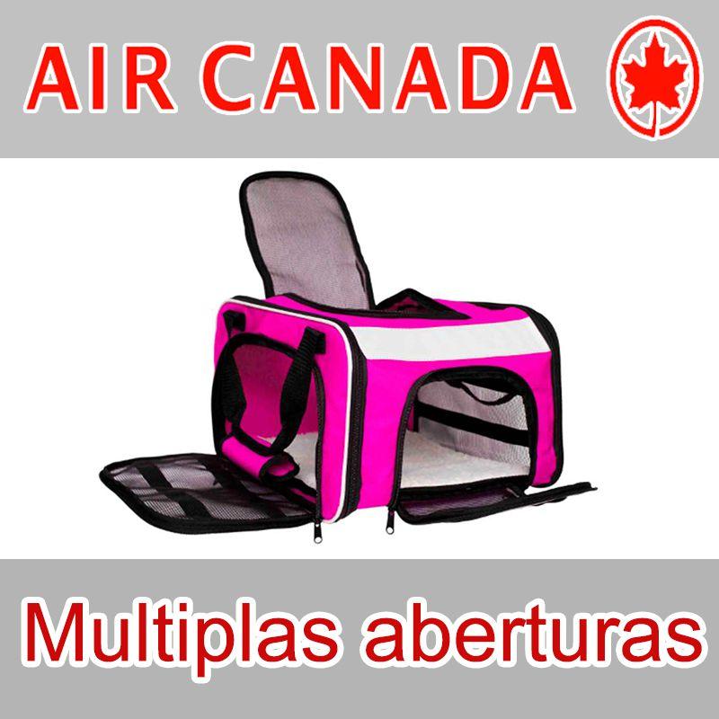 Bolsa para Transportar seu Pet na Cabine do Avião - Cia AIR CANADA - Eleva Mundi - (Cor Rosa)