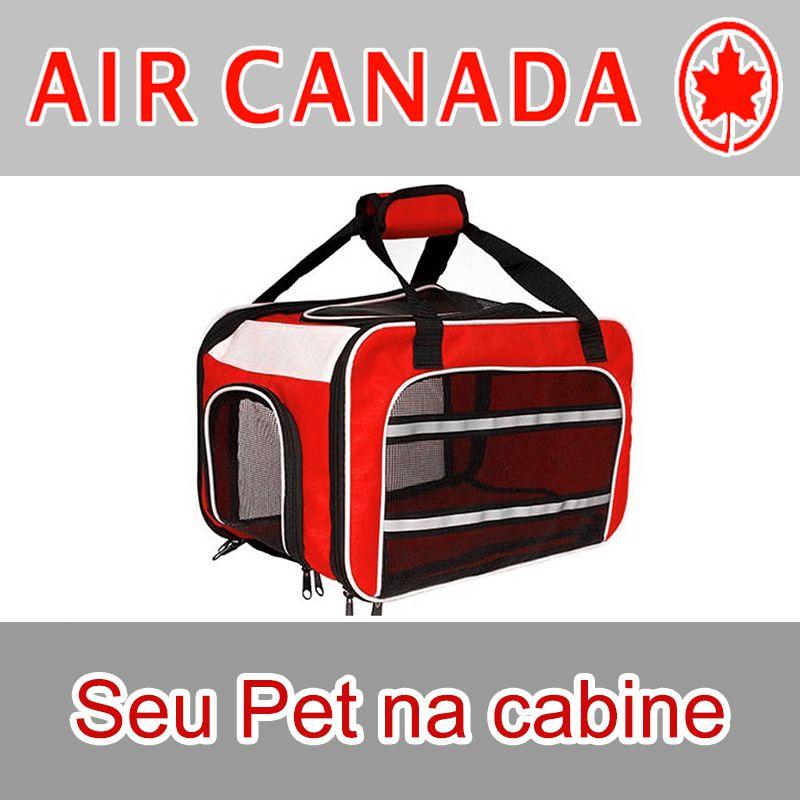 Bolsa para Transportar seu Pet na Cabine do Avião - Cia AIR CANADA - Eleva Mundi - (Cor Vermelho)