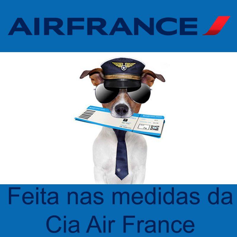 Bolsa para Transportar seu Pet na Cabine do Avião - Cia AIR FRANCE - Eleva Mundi - (Cor Azul)