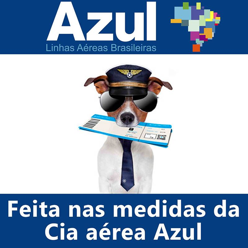 Bolsa para Transportar seu Pet na Cabine do Avião - Cia AZUL - Eleva Mundi - (Cor Preto)