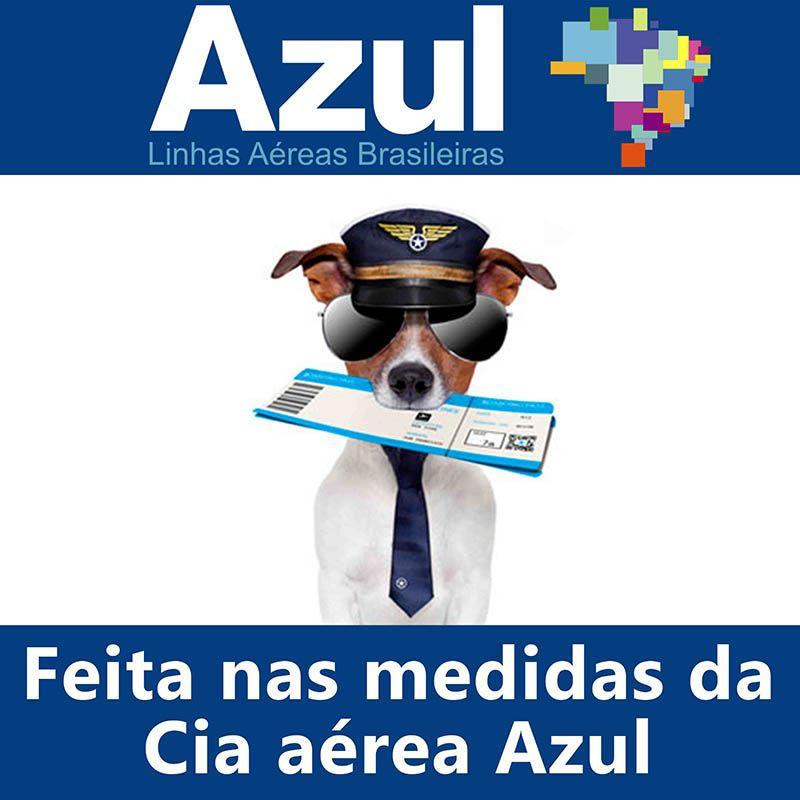 Bolsa para Transportar seu Pet na Cabine do Avião - Cia AZUL - Eleva Mundi - (Cor Vermelho)