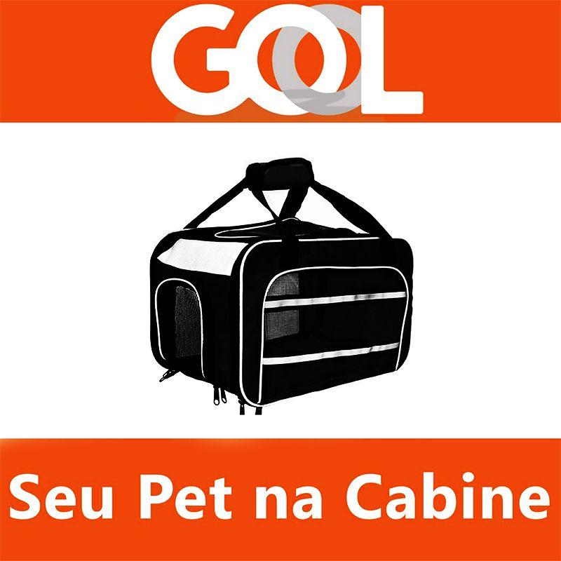Bolsa para Transportar seu Pet na Cabine do Avião - Cia GOL - Eleva Mundi - (Cor Preto)