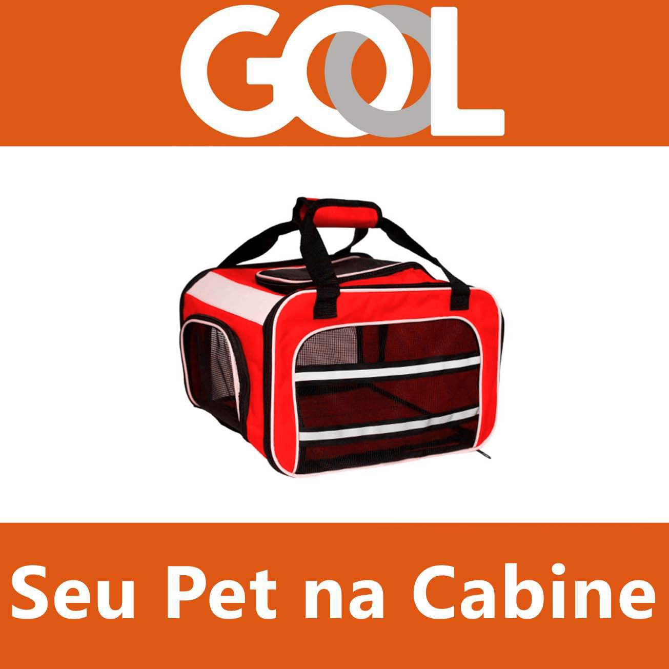 Bolsa para Transportar seu Pet na Cabine do Avião - Cia GOL - Eleva Mundi - (Cor Vermelha)