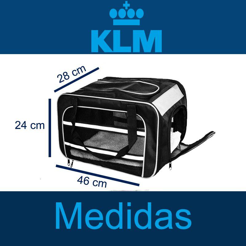 Bolsa para Transportar seu Pet na Cabine do Avião - Cia KLM - Eleva Mundi - (Cor Preto)