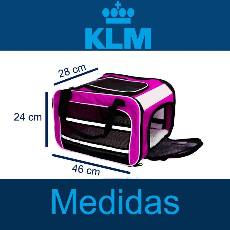 Bolsa para Transportar seu Pet na Cabine do Avião - Cia KLM - Eleva Mundi - (Cor Rosa)