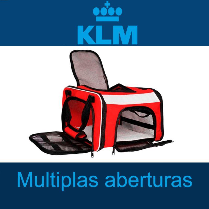 Bolsa para Transportar seu Pet na Cabine do Avião - Cia KLM - Eleva Mundi - (Cor Vermelho)