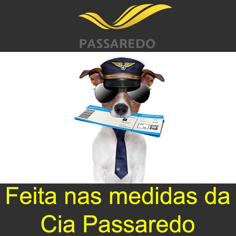 Bolsa para Transportar seu Pet na Cabine do Avião - Cia Passaredo - Eleva Mundi - (Cor Azul)