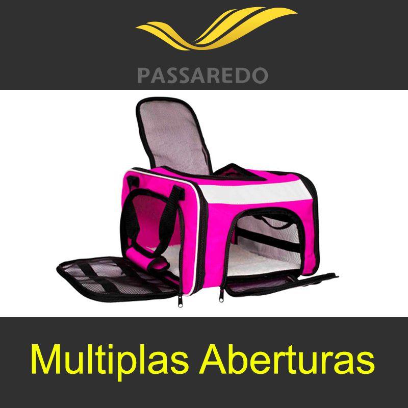 Bolsa para Transportar seu Pet na Cabine do Avião - Cia Passaredo - Eleva Mundi - (Cor Rosa)