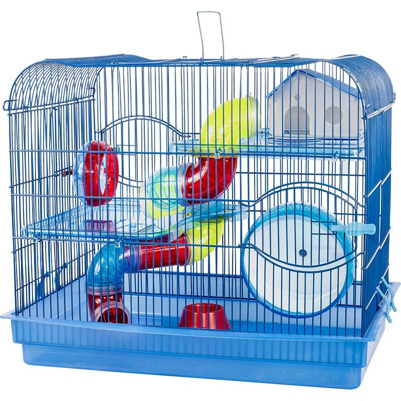 Gaiola Luxo 2 Andares Azul para Hamster  - Jel Plast