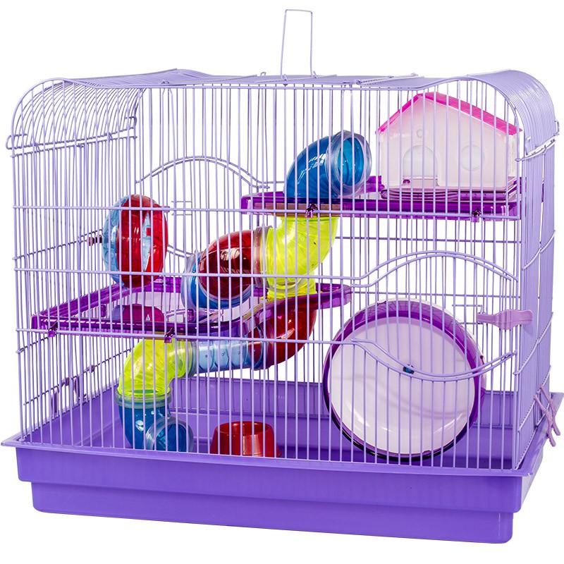 Gaiola Luxo 2 Andares Lilás para Hamster - Jel Plast