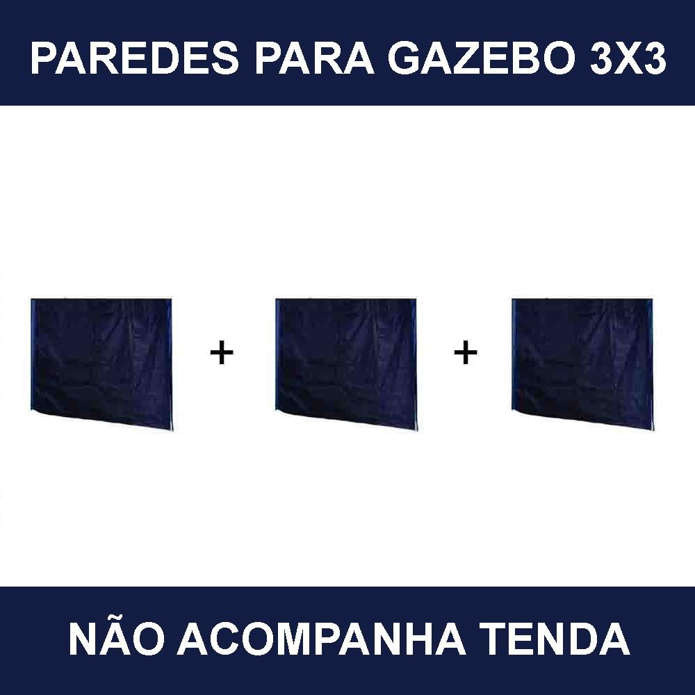 Kit Com 3 Paredes Lisas para Gazebo Articulado MOR